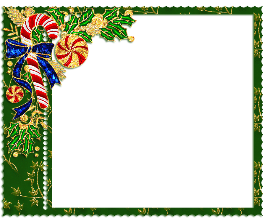 Christmas candy border clipart stock Green PNG Christmas Frame with Candy Cane | Gallery Yopriceville ... stock