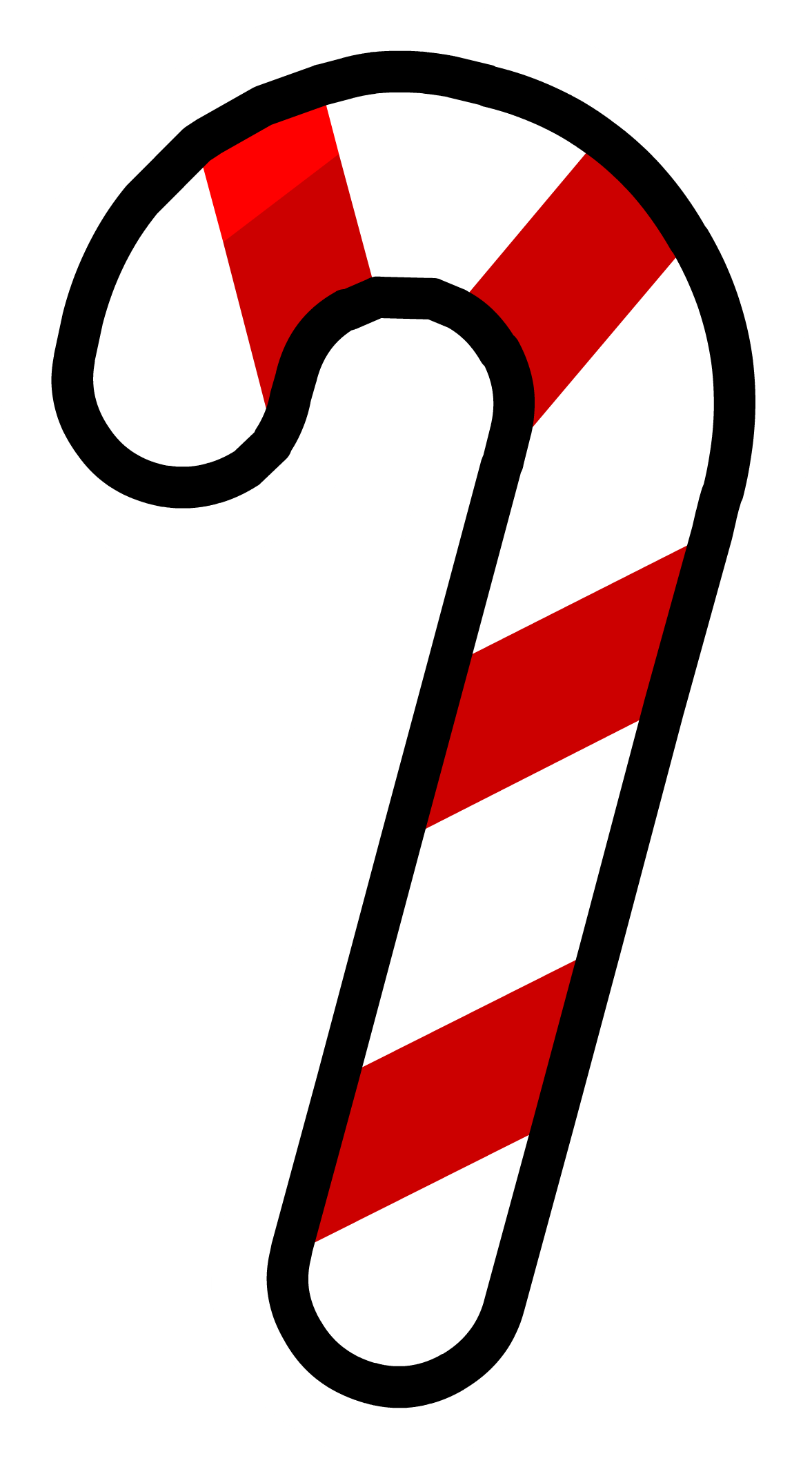 Christmas candy cane clipart black and white library Candy Cane Silhouette at GetDrawings.com | Free for personal use ... black and white library