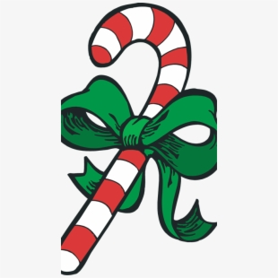 Christmas cane clipart graphic royalty free download Cane Clipart Bow - Clip Art Christmas Candy Cane #2215275 - Free ... graphic royalty free download