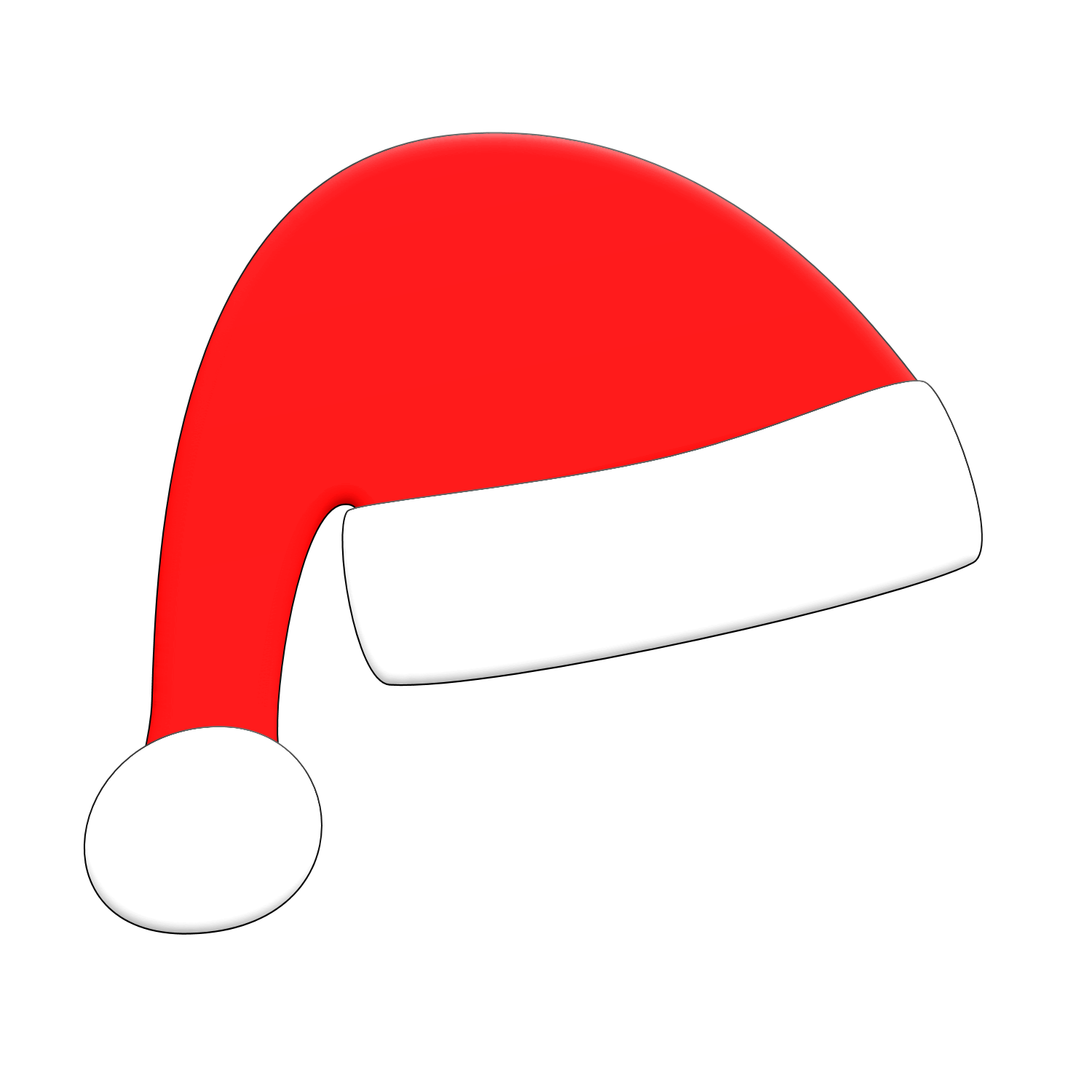 Christmas cap clipart clipart freeuse library Free Picture Of A Santa Hat, Download Free Clip Art, Free Clip Art ... clipart freeuse library