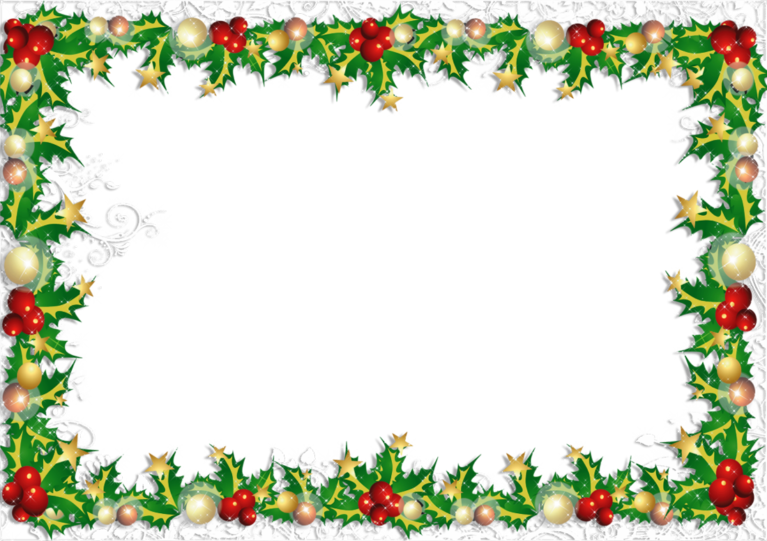 Christmas card borders clipart picture free library Transparent PNG Christmas Photo Frame | Gallery Yopriceville - High ... picture free library