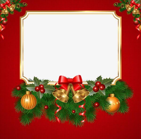 Christmas card borders clipart transparent download Christmas Greeting Card Border PNG, Clipart, Ball, Birthday Card ... transparent download