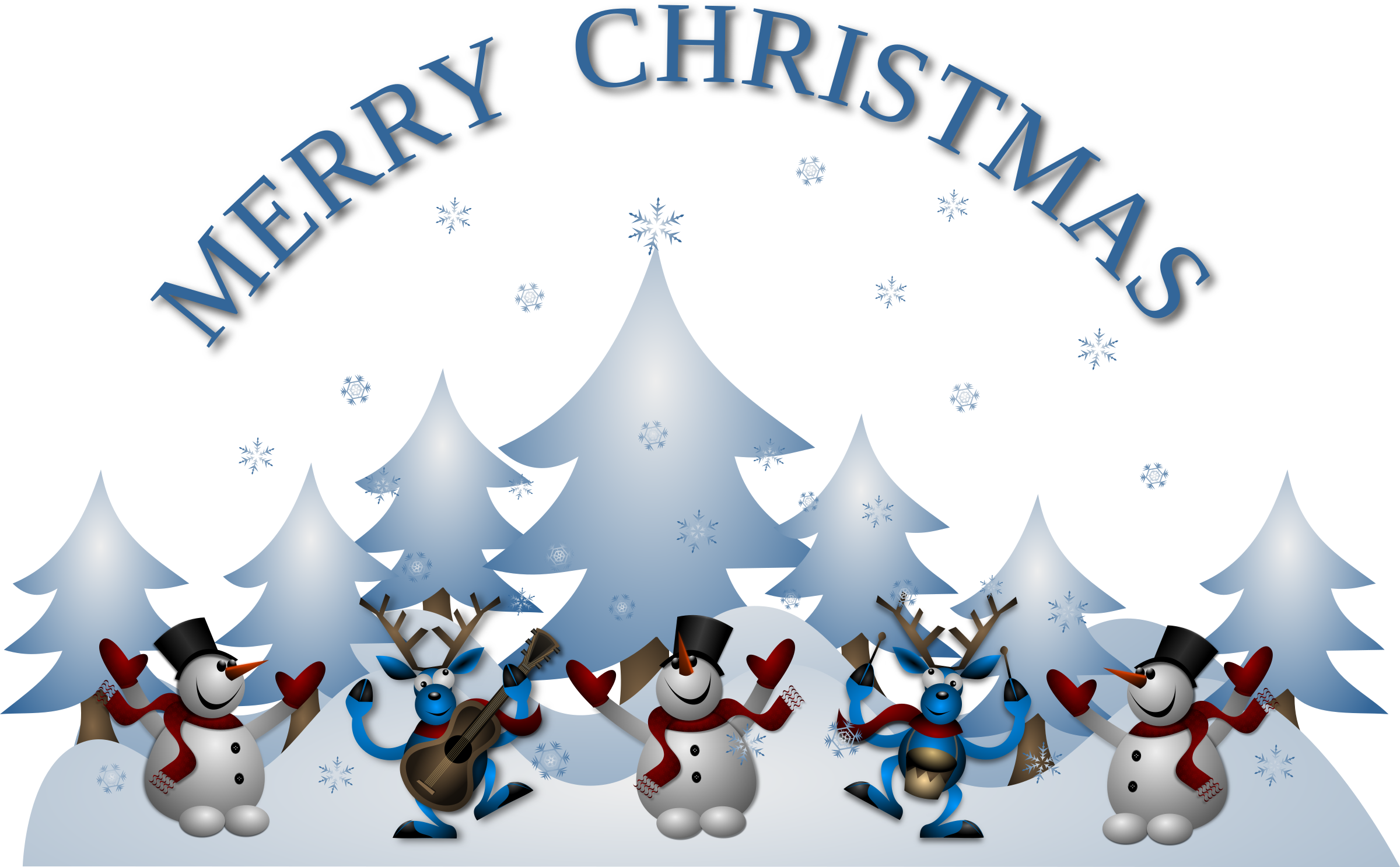 Christmas song clipart banner free download Clipart - Merry Christmas Card Front banner free download