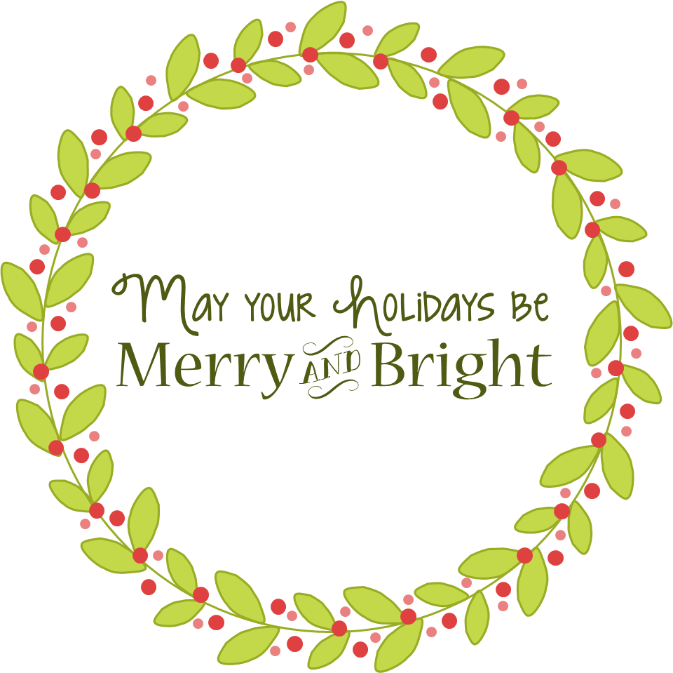 Christmas words clipart picture black and white download Bright Christmas Clipart picture black and white download