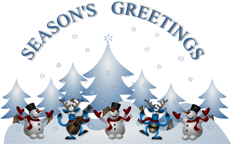Christmas cards clipart vector library stock Clipart - Seasons Greetings Card Front vector library stock