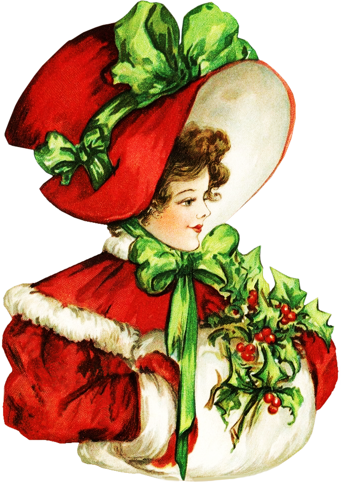 Victorian christmas clipart jpg library stock Victorian Christmas Beauty ClipArt jpg library stock