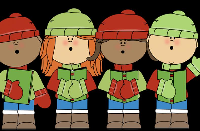 Christmas carol clipart vector transparent Children's Carols   Hexham Abbey vector transparent