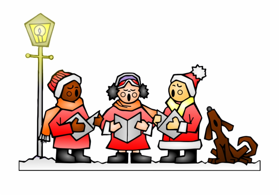 Christmas carol singers clipart free clip black and white library Singing Christmas Carols Clipart - Christmas Caroling, Transparent ... clip black and white library