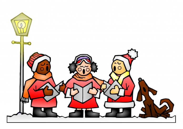Christmas caroling clipart free