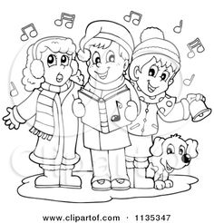 Christmas carollers clipart black and white black and white library 33 Best Carolers images in 2018 | Christmas, Christmas art ... black and white library