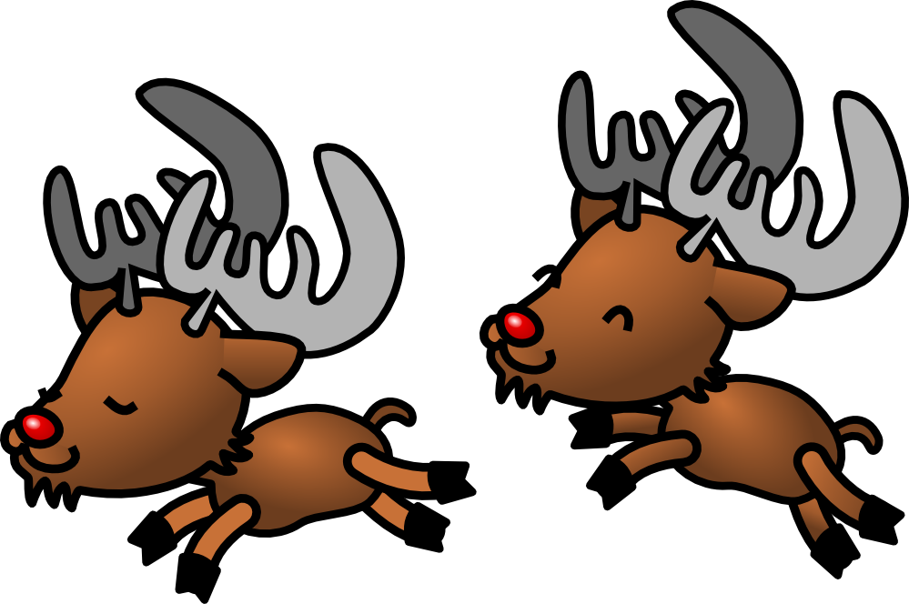 Christmas cartoon clipart clip black and white download Free Christmas Reindeer Images, Download Free Clip Art, Free Clip ... clip black and white download