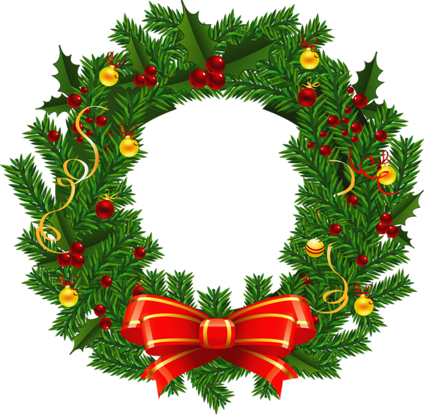 Snowflake wreath free clipart image library Large Transparent Christmas Wreath PNG Picture | Clipart | Pinterest ... image library