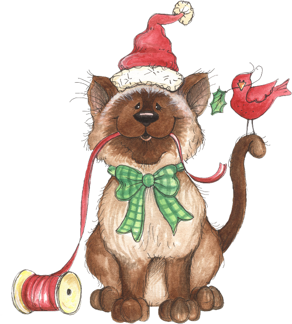 Christmas cats clipart picture free download Christamscat - Laurie Furnell | Christmas and Winter | Pinterest ... picture free download