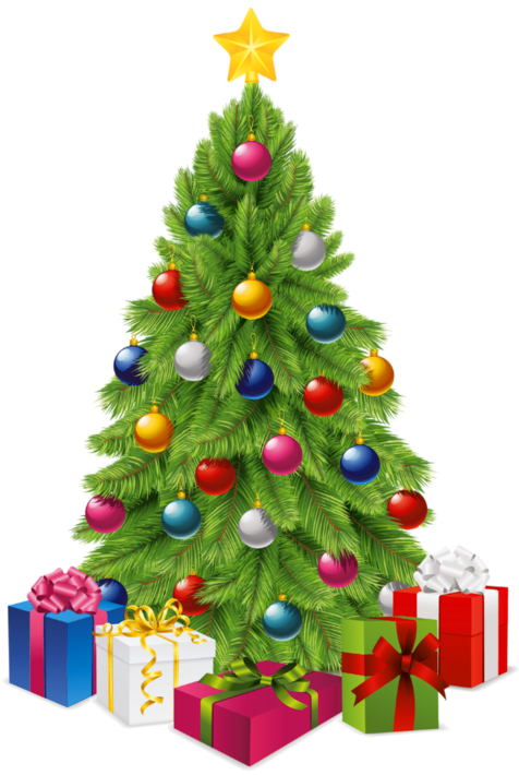 Christmas tree clipart graphics svg free library Transparent Christmas Tree with Gift Boxes PNG Picture | Christmas ... svg free library
