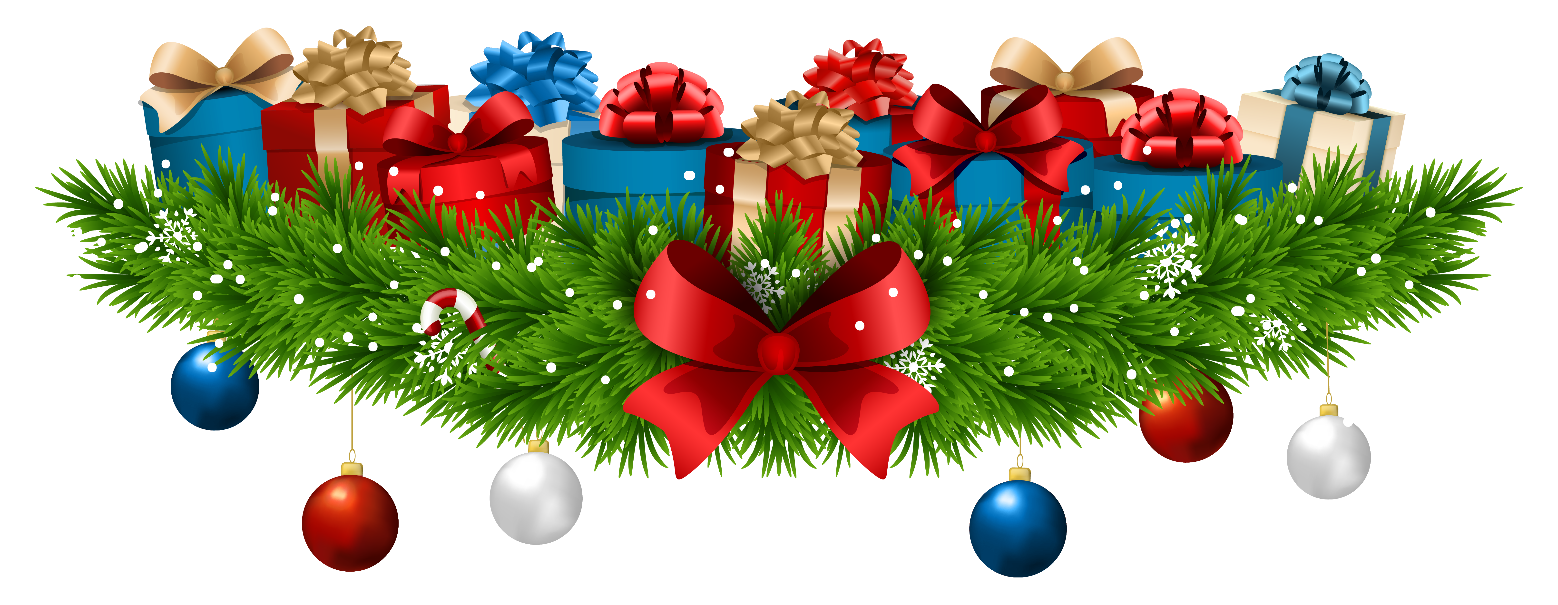 Christmas clipart presents graphic free stock Christmas Decoration with Gifts PNG Clip Art Image | Gallery ... graphic free stock