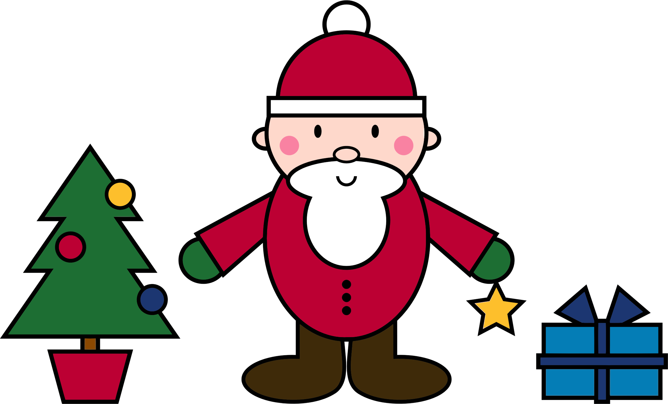 Christmas scene clipart clipart library stock Clipart - Simple Santa Claus Christmas Scene clipart library stock