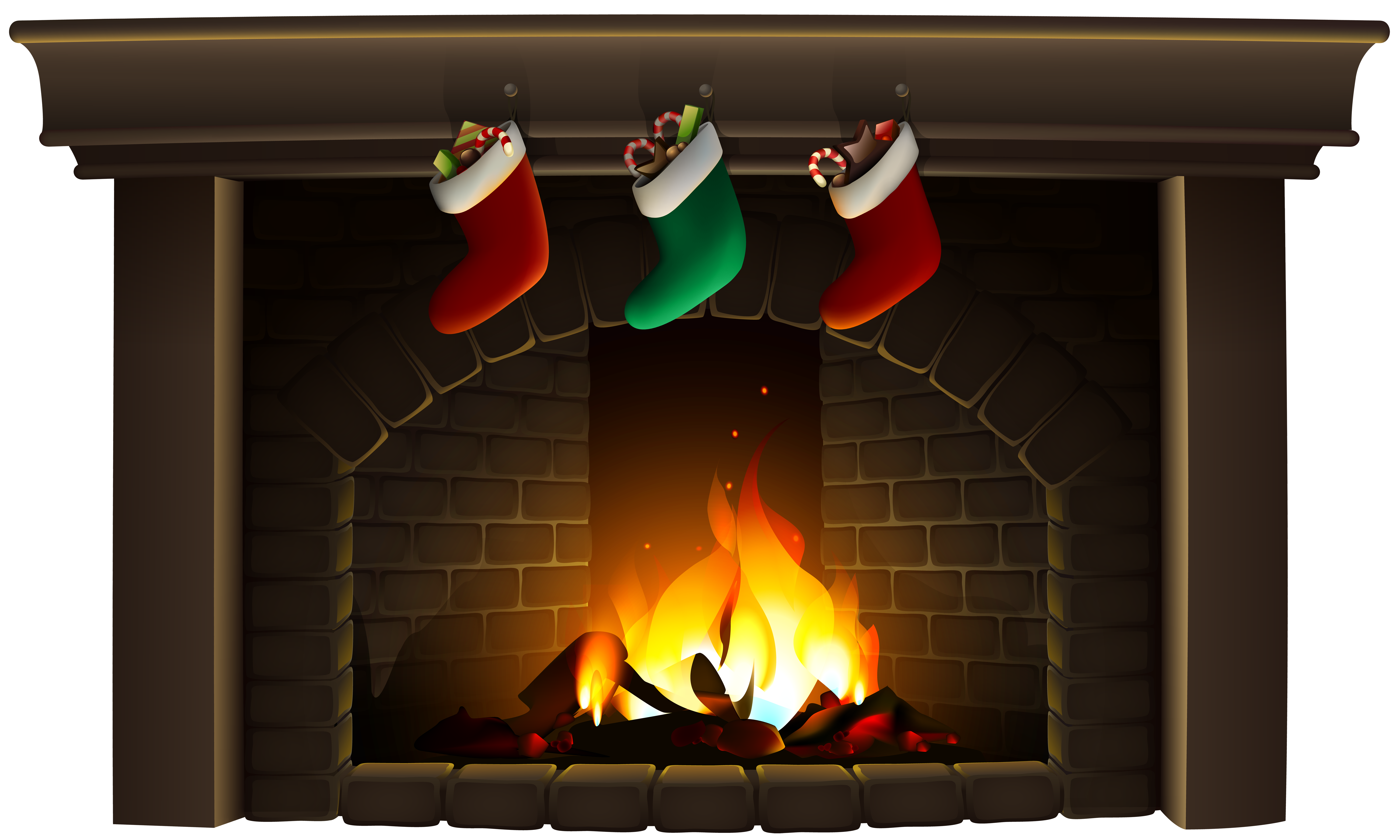 Christmas chimney clipart picture library 28+ Collection of Fireplace Clipart Christmas   High quality, free ... picture library