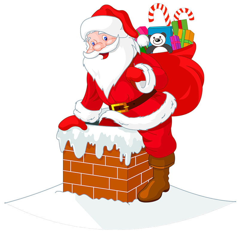 Christmas chimney clipart jpg free download Transparent Santawith Chimney Cipart   Gallery Yopriceville - High ... jpg free download