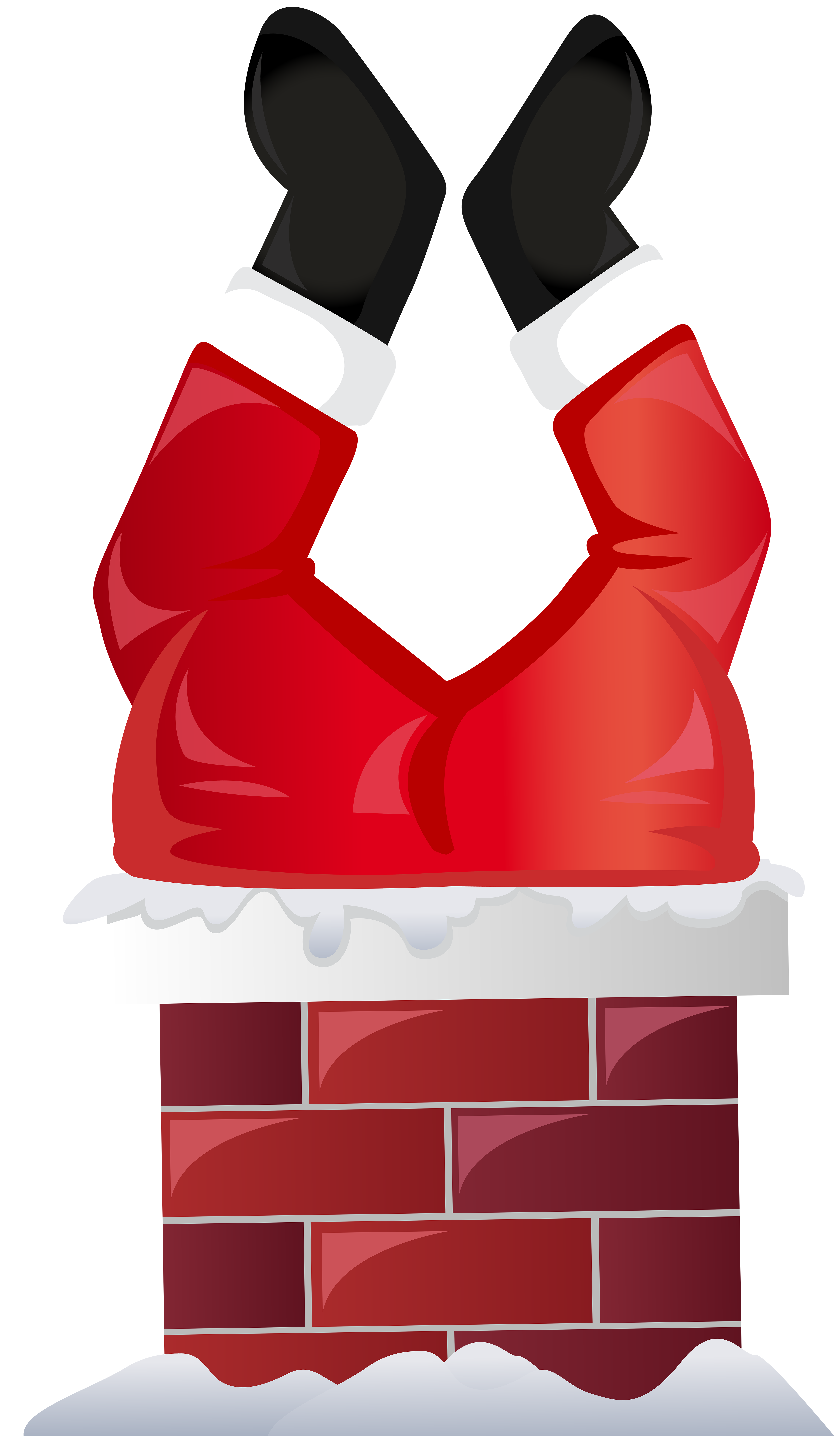 Santa in a car clipart banner freeuse library Funny Santa in Chimney Transparent PNG Clip Art | Gallery ... banner freeuse library