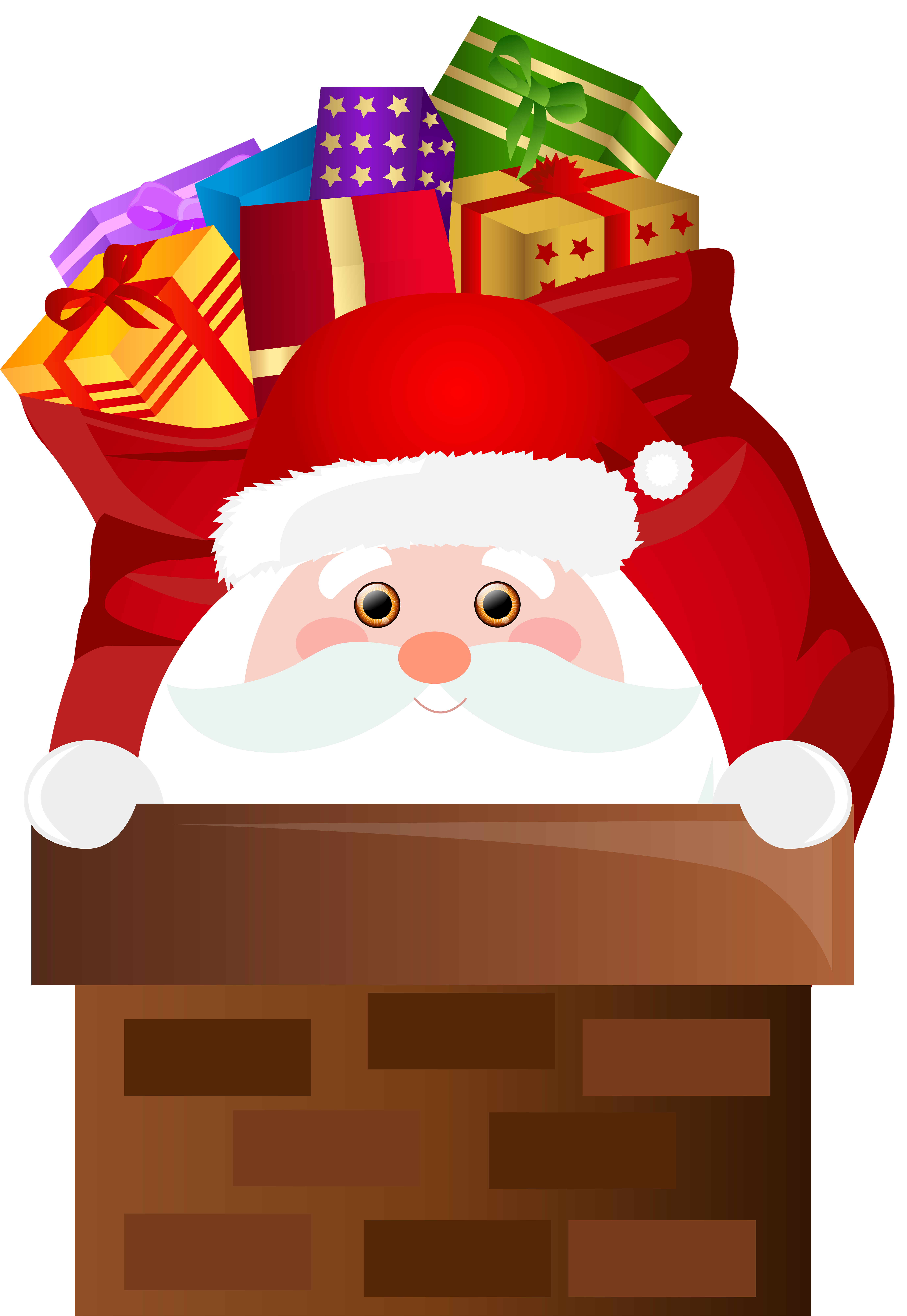 Christmas chimney clipart png royalty free download Santa Claus Chimney Transparent PNG Clip Art   Gallery Yopriceville ... png royalty free download