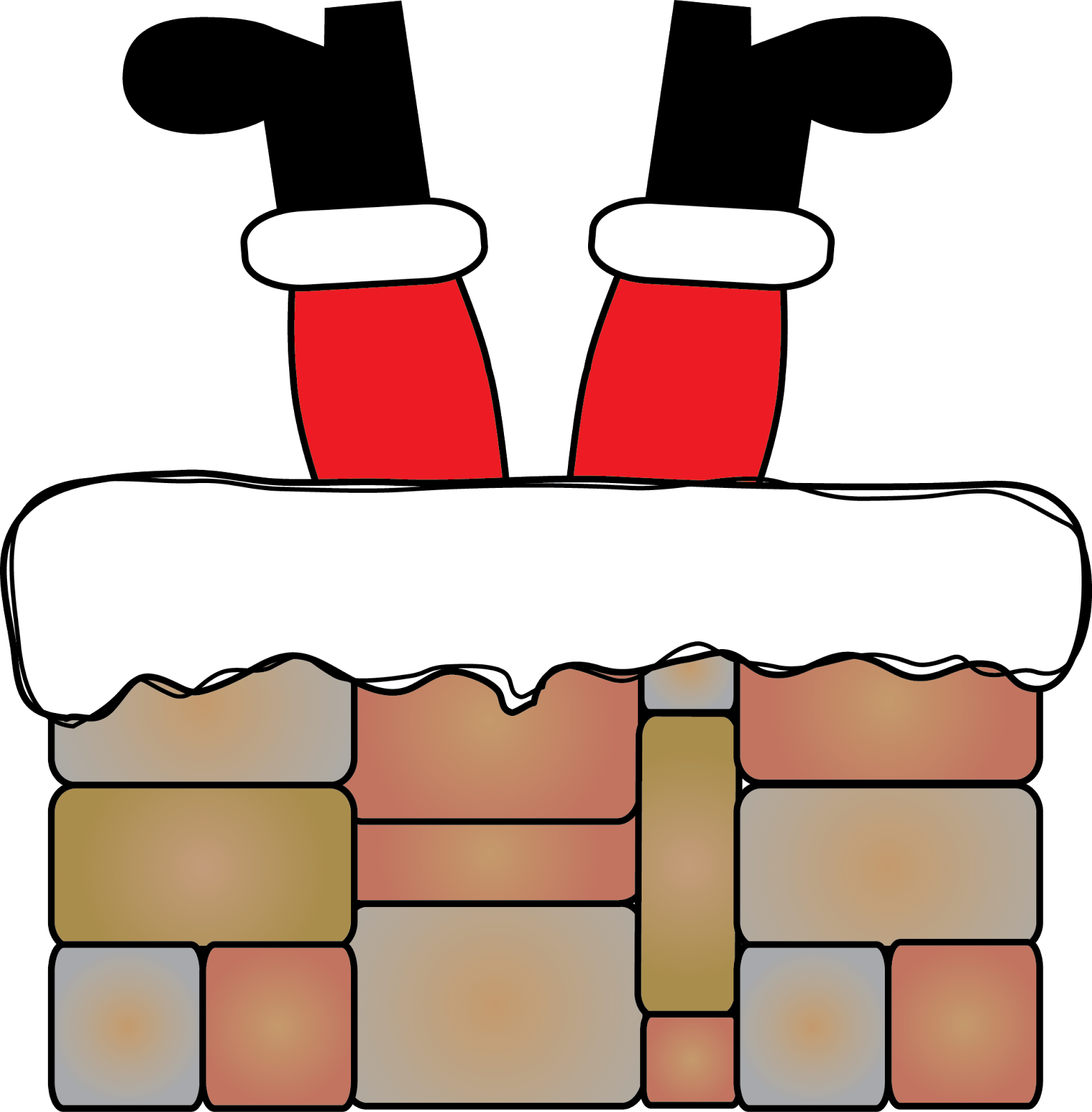 Christmas chimney clipart jpg freeuse download Don't Get Stuck! Freebies and More! - Mrs. Jump's Class jpg freeuse download