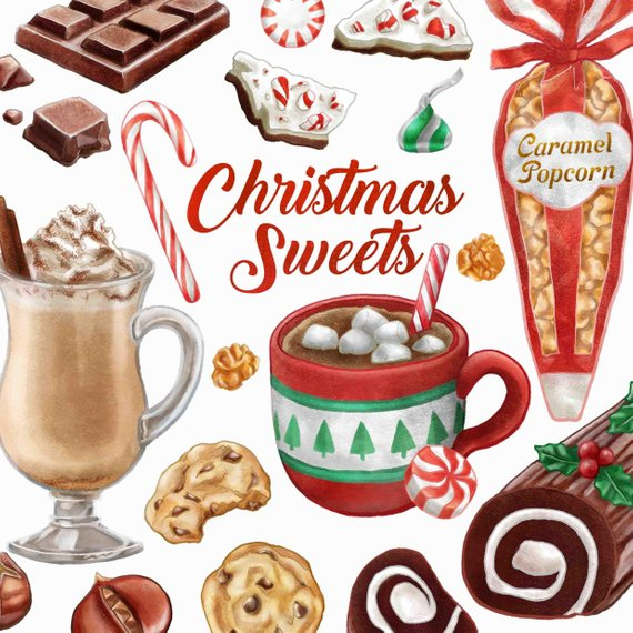 Christmas chocolate candy clipart clipart library Christmas Sweets Clipart. Watercolor Candy Clip Art. Chocolate ... clipart library