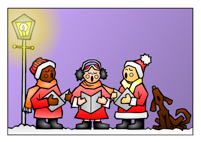 Christmas choir clipart clip library download Ho! Ho! Ho! Merry Christmas! | goesling clip library download