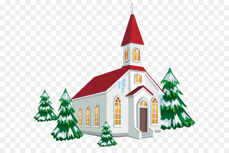 Christmas church service clipart