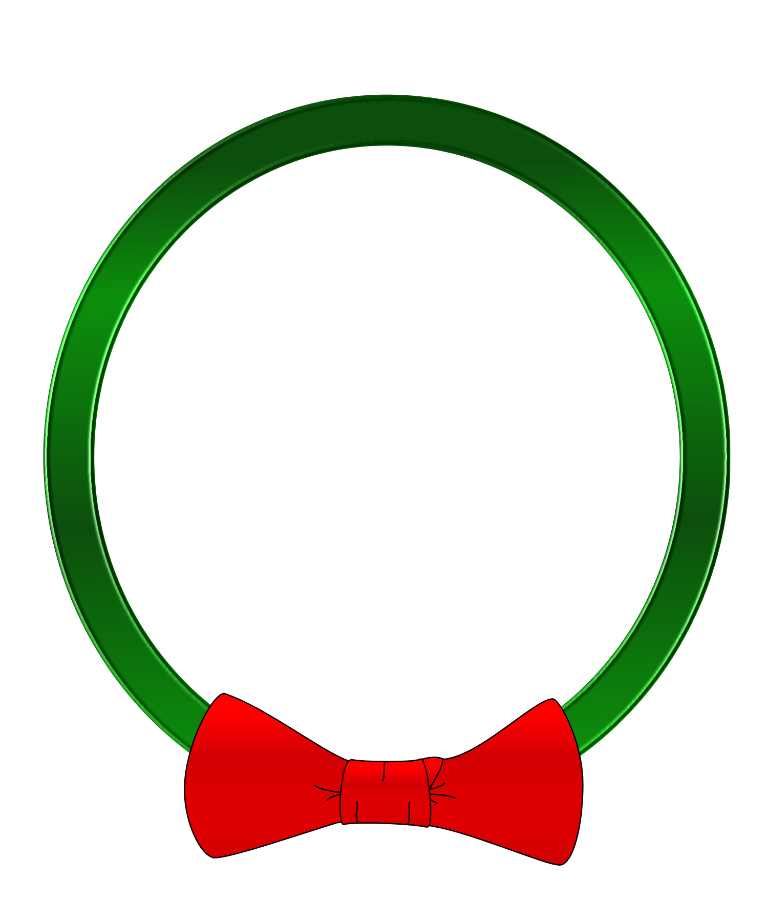 Christmas circle clipart