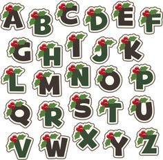 Christmas clip art alphabet letters free library Santa Hat Alphabet 4x4 hoop size (jef, pes, and hus formats ... free library