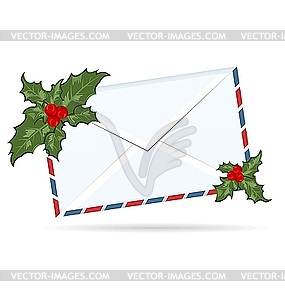 Christmas clip art letters free download letter with Holly berry - vector clipart / vector image free download