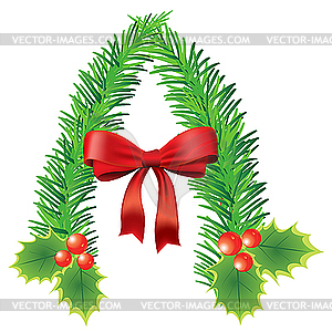 Christmas clip art letters image freeuse library letter A made of fir branches - vector clipart image freeuse library