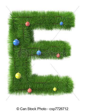 Christmas clip art letters. Of e letter made
