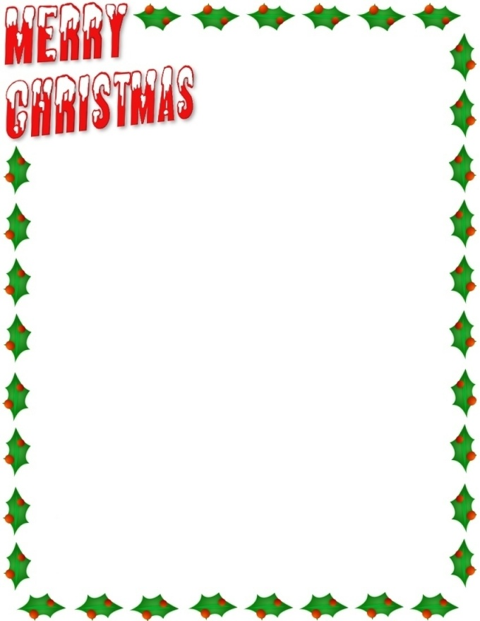 Christmas clip art letters. Borders for clipart kid