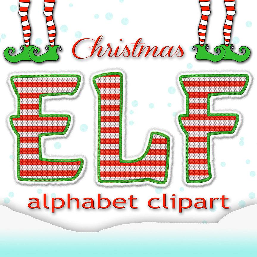 Alphabet clipart kid elf. Christmas clip art letters