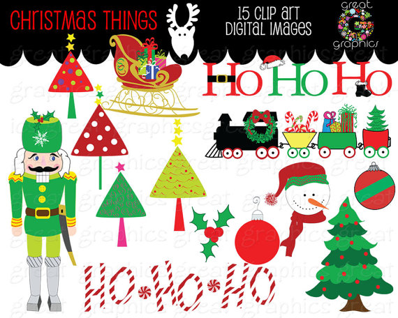 Christmas clip art printables picture library download Printable Christmas Clipart - Clipart Kid picture library download
