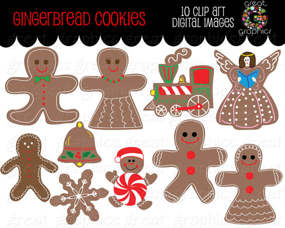 Christmas clip art printables clipart transparent download Gingerbread Clipart Gingerbread Man Christmas Digital Clip Art ... clipart transparent download