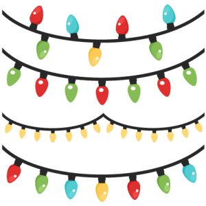 Christmas clip art svg image freeuse stock Christmas Lights scrapbook clip art christmas cut outs for cricut ... image freeuse stock