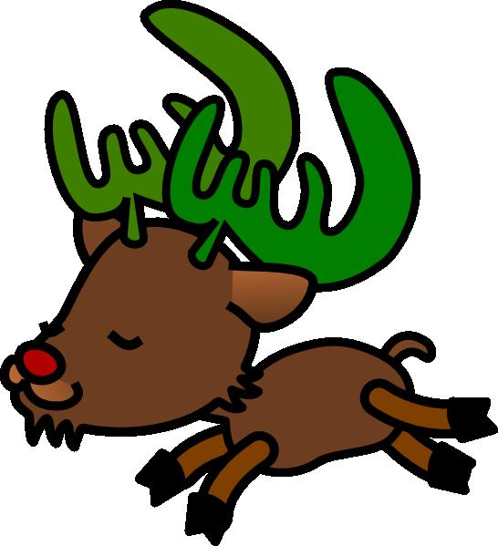 Christmas clipart and football jpg download Christmas Reindeer 1 Clip Art at Clker.com - vector clip art online ... jpg download