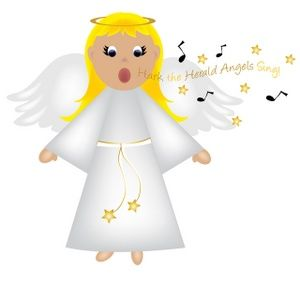 Christmas clipart angels free clip art royalty free library Free Angel Clip Art Image: Christmas Angel Singing   Christmas for ... clip art royalty free library
