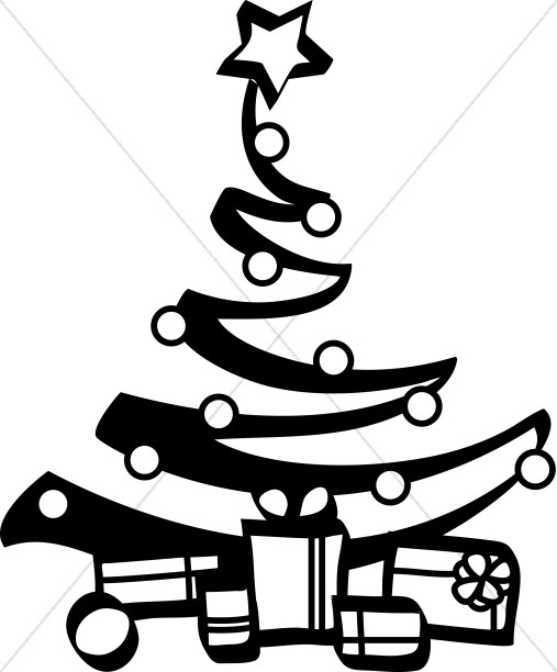 Christmas clipart artist banner royalty free library Black and White Artist Christmas Tree | Religious Christmas Clipart banner royalty free library