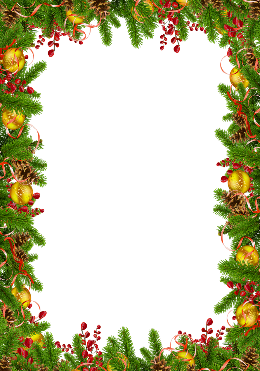 Christmas clipart background image transparent library Transparent Christmas Photo Frame with Pine Cones | Gallery ... image transparent library
