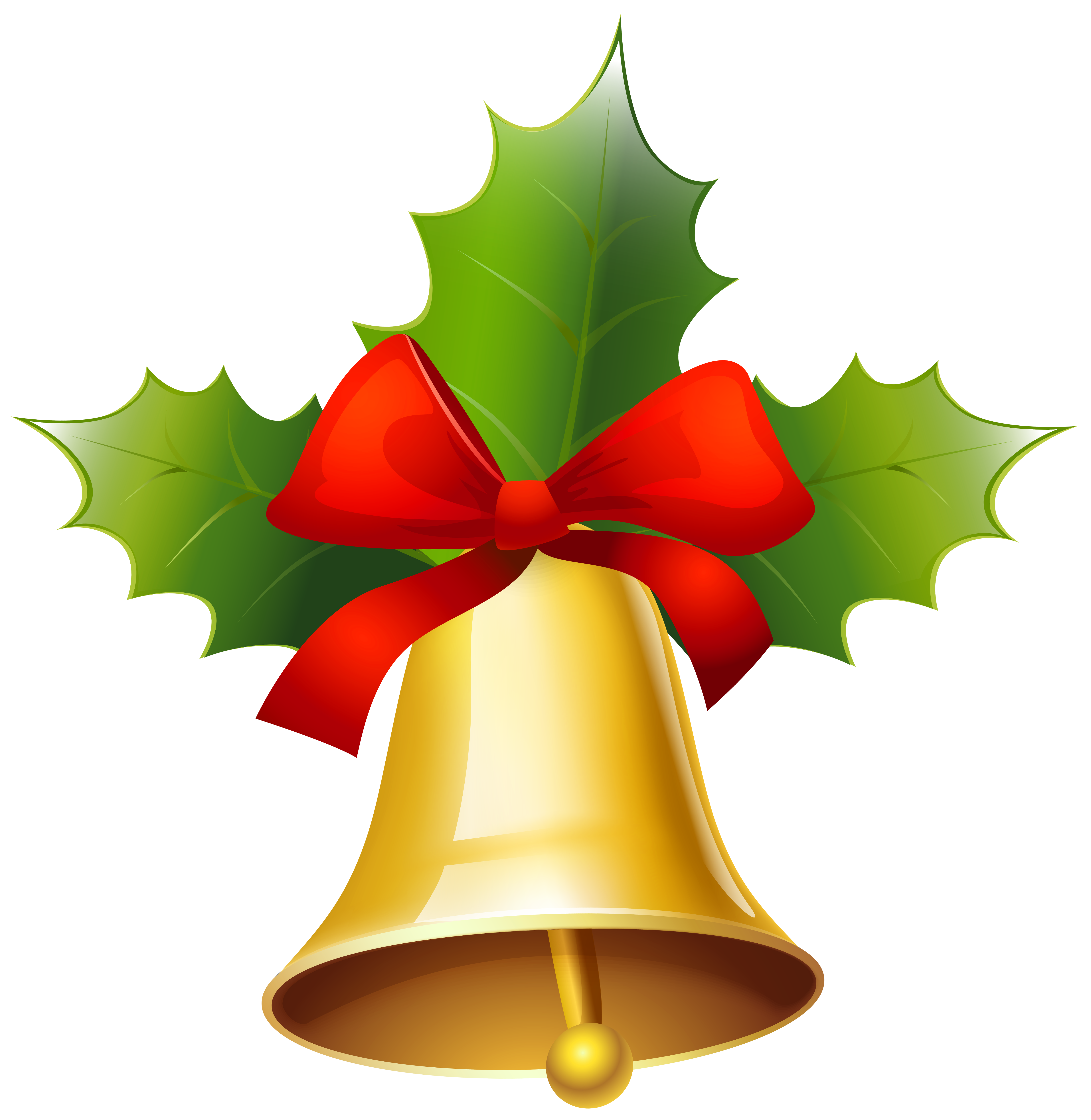Christmas clipart bell clipart black and white stock Golden Christmas Bell PNG Clipart Image | Gallery Yopriceville ... clipart black and white stock