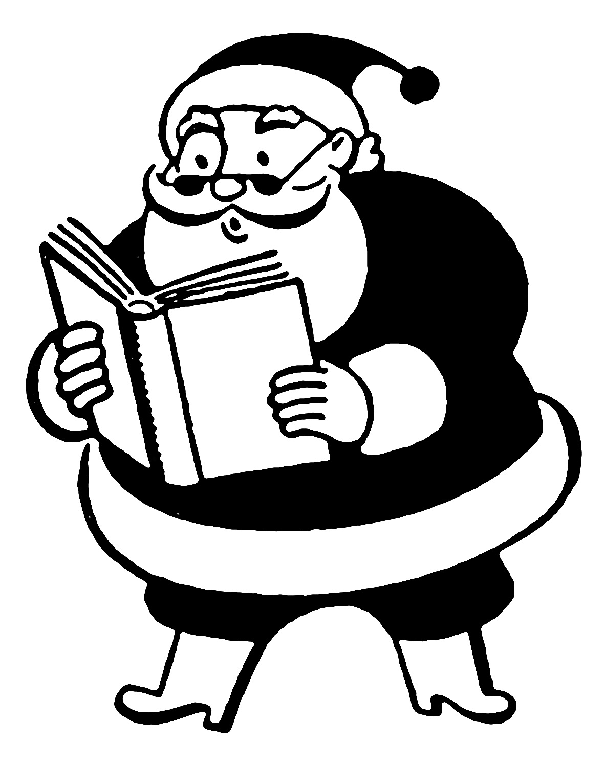 Christmas clipart books reading png free download 12 Cute Santa Clipart - Retro Style! - The Graphics Fairy png free download