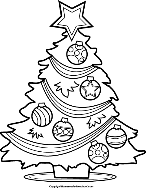 clipartlook. Free black and white clipart christmas