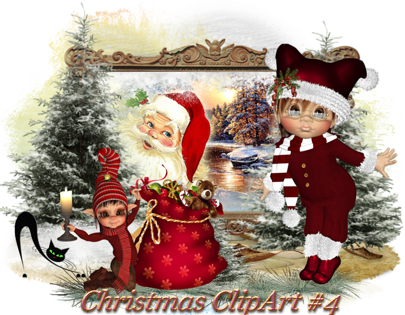 Christmas clipart cat picture freeuse Design Wilds Cat: Рождественский клипарт #4 Christmas ClipArt #4 ... picture freeuse