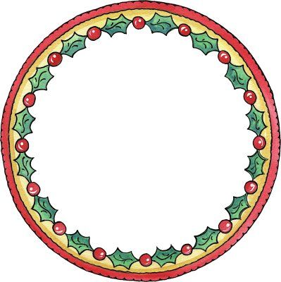 Christmas clipart circle graphic library library Christmas - Circle Frame | Borders | Christmas printables, Christmas ... graphic library library