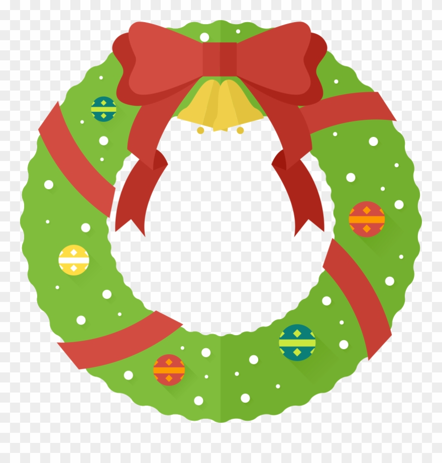 Christmas clipart crown banner royalty free stock Free - Cute Christmas Wreath Clipart - Png Download (#30218 ... banner royalty free stock