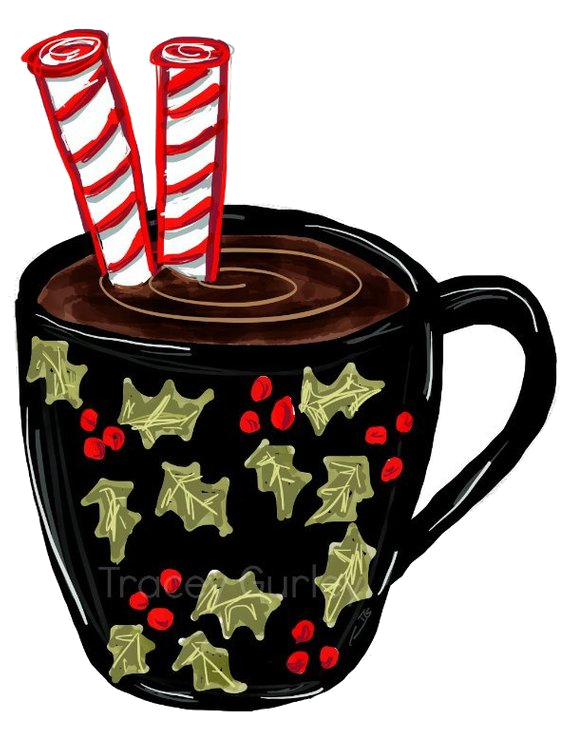 Christmas clipart cup graphic transparent download Hot Chocolate Clipart Mug Christmas Crafts Digital Clip Art Holiday ... graphic transparent download