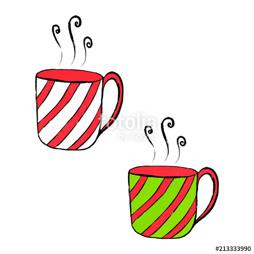 Christmas clipart cup royalty free download Xmas seasonal collection, Christmas cup clipart isolated vector ... royalty free download